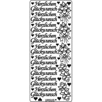 """Kreativ Sticker """"Herzlichen Glückwunsch 1"""" gold"""
