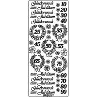 "Kreativ Sticker ""Jubiläum 2"" silber"
