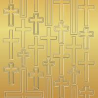 "Kreativ Sticker ""Kreuze"" gold"