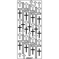 """Kreativ Sticker """"Kreuze"""" schwarz"""