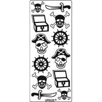 """Kreativ Sticker """"Piraten"""" schwarz"""