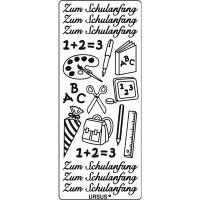 """Kreativ Sticker """"Schulanfang"""" silber"""