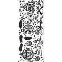 """Kreativ Sticker """"Weihnachten 2"""" silber"""