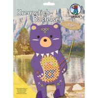 Kreuzstich-Bastelset Bär