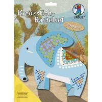 Kreuzstich-Bastelset Elefant