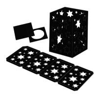 """Laternenpackung """"Sterne"""" schwarz"""