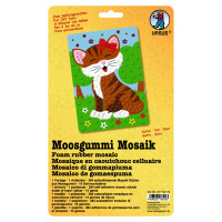 "Moosgummi Mosaik ""Katze"""