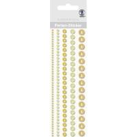"""Perlen Sticker """"Bordüren"""" gelb"""
