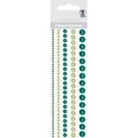 """Perlen Sticker """"Bordüren"""" grün"""