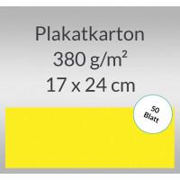 Plakatkarton 380 g/qm 17 x 24 cm citronengelb - 50 Blatt
