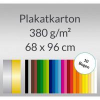 Plakatkarton 380 g/qm 68 x 96 cm - 10 Bogen