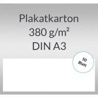 Plakatkarton 380 g/qm DIN A3  weiß - 50 Blatt