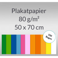Plakatpapier 80 g/qm 50 x 70 cm - 100 Bogen