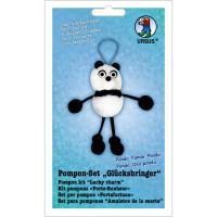 """Pompon-Set """"Glücksbringer"""" Panda"""