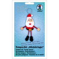 """Pompon-Set """"Glücksbringer"""" Weihnachtsmann"""