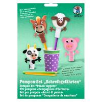 """Pompon-Set """"Schreibgefährten"""" Farmtiere"""