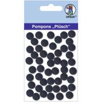 """Pompons """"Plüsch"""" 10 mm schwarz"""