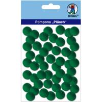 "Pompons ""Plüsch"" 15 mm dunkelgrün"