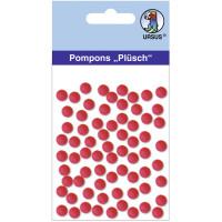 "Pompons ""Plüsch"" 7 mm rubinrot"