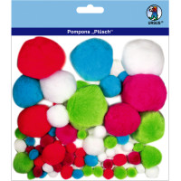 """Pompons """"Plüsch"""" Mix 10"""