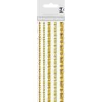 """Schmuckstein Sticker """"Bordüren"""" quadratisch gelb"""