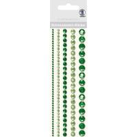 """Schmuckstein Sticker """"Bordüren"""" rund grün"""