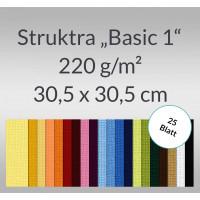"Scrapbooking Papier ""Struktura Basic 1"" 30,5 x 30,5 cm - 25 Blatt"