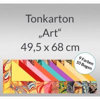 "Tonkarton ""Art"" 220 g/qm 49,5 x 68 cm - 10 Bogen sortiert"