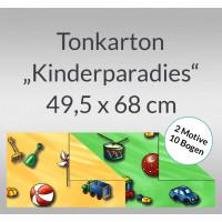 """Tonkarton """"Kinderparadies"""" 220 g/qm 49,5 x 68 cm - 10 Bogen sortiert"""