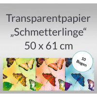 "Transparentpapier ""Schmetterlinge"" 50 x 61 cm - 10 Bogen"