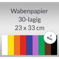 Wabenpapier 23 x 33 cm - 5 Blatt