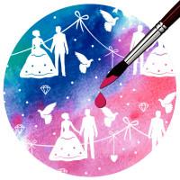 """Zauberpapier """"Hochzeit"""" DIN A4 - 10 Blatt"""