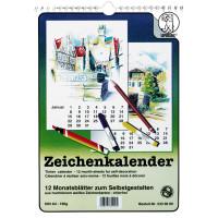 Zeichenkalender DIN A4 weiß