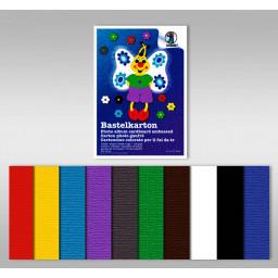 Bastelkarton 220 g/qm 23 x 33 cm - 10 Blatt sortiert