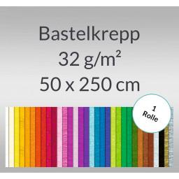Bastelkrepp 32 g/qm 50 cm x 2,5 m - 1 Rolle