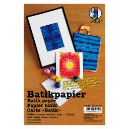 Batikpapier 19 g/qm 46 x 68 cm - 10 Bogen