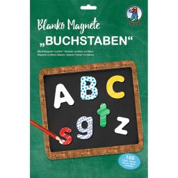 """Blanko Magnete """"Buchstaben"""", 100 Stück"""