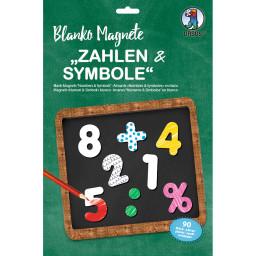 "Blanko Magnete ""Zahlen & Symbole"", 90 Stück"