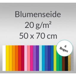 Blumenseide 20 g/qm 50 x 70 cm - 6 Bogen