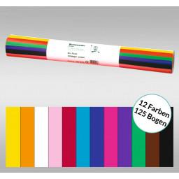 Blumenseide 20 g/qm 50 x 70 cm silber - 125 Bogen in 12 Farben