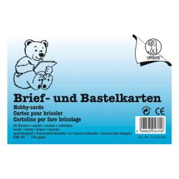 Brief- und Bastelkarten DIN A6 querdoppelt weiß - 25 Karten