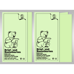 Brief- und Bastelkarten DIN lang - 10 Karten