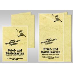 Brief- und Bastelkarten DIN lang Elefantenhaut 190 g/qm - 10 Karten