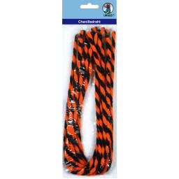 Chenilledraht 9 mm orange/schwarz