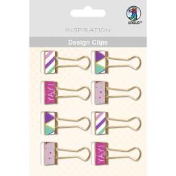 Design Clips - Geometric, 8 Stück sortiert