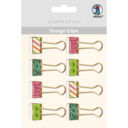 Design Clips - Love 1, 8 Stück sortiert