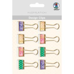 Design Clips - Love 2, 8 Stück sortiert