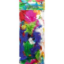 Flauschfedern, 10 Gr. Farben intensiv