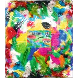 Flauschfedern, 100 Gr. Farben intensiv