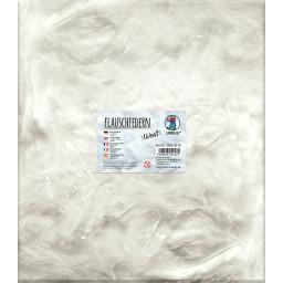 Flauschfedern, 100 Gr. in weiß